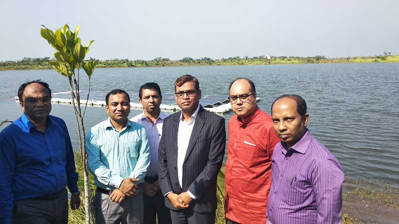 10 kW Floating Solar Site Visit By Additional Secretary, Power Division