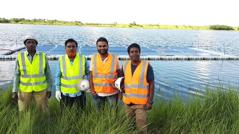 10 kW Floating Solar Project